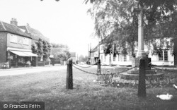 Writtle, Post Office And Memorial Cross c.1960