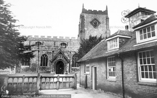 Photo of Writtle, The Church c.1960