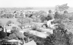 Writtle, The Green From Church Tower c.1965