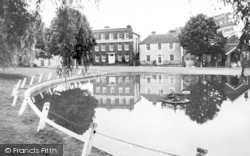 Writtle, The Pond And Green c.1960