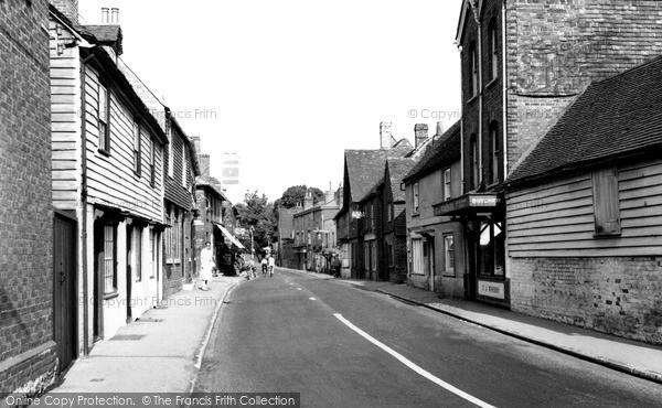 Photo of Wrotham, High Street c.1955