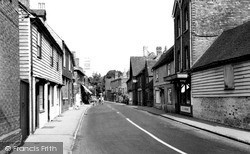 Wrotham, High Street c.1955