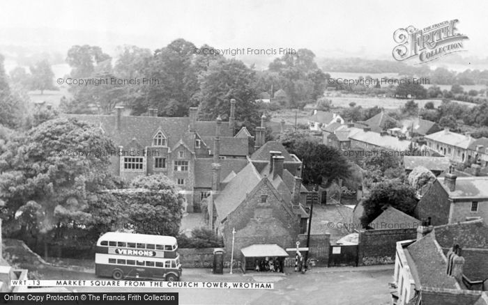 Photo of Wrotham, Market Square From The Church Tower c.1955