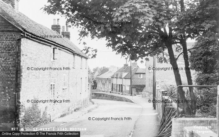 Photo of Wrotham, St Mary's Road c.1955