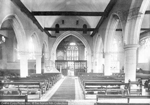 Photo of Wrotham, The Church, Interior 1903