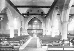 Wrotham, The Church, Interior 1903