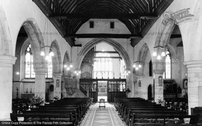 Photo of Wrotham, The Church Interior c.1960