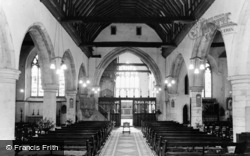 Wrotham, The Church Interior c.1960