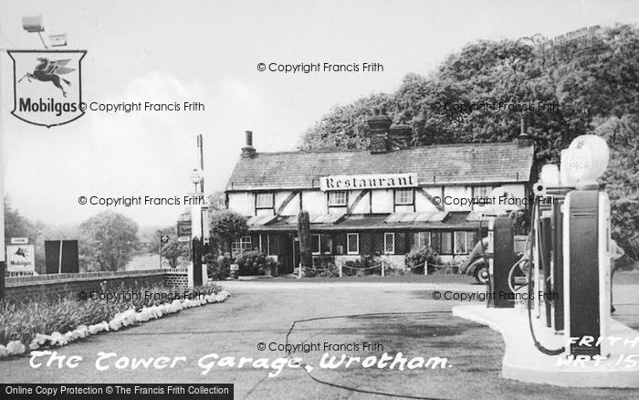 Photo of Wrotham, The Tower Garage c.1955
