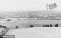 Wrotham, View From Wrotham Hill c.1955