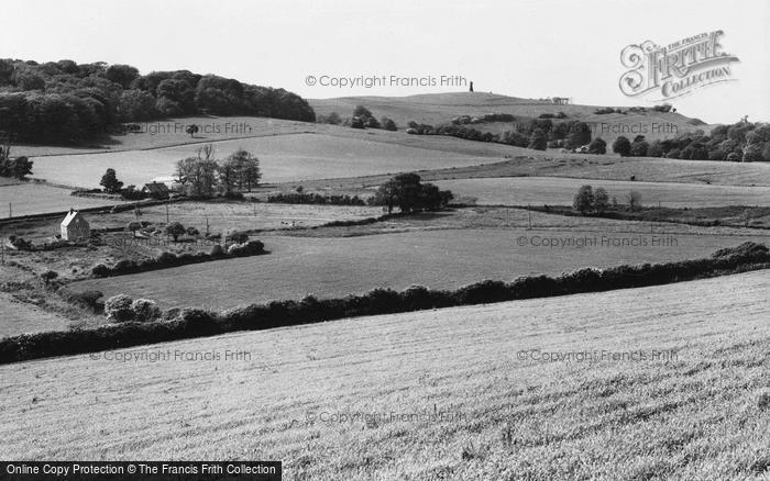 Photo of Wroxall, Appuldurcombe Down & The Obelisk c.1955