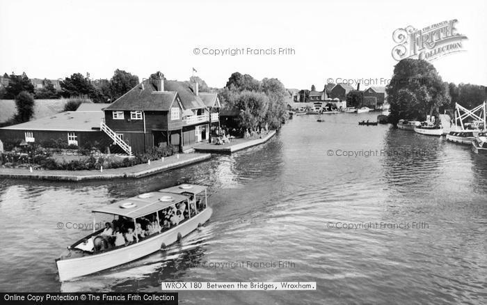 Photo of Wroxham, Between The Bridges c.1955