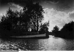 Evening On The Bure c.1950, Wroxham