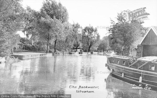 Photo of Wroxham, The Backwater c.1950