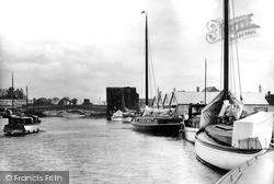 The Yacht Basin And The Bridge c.1940, Wroxham
