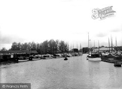 Wroxham, The Yacht Basin c.1940