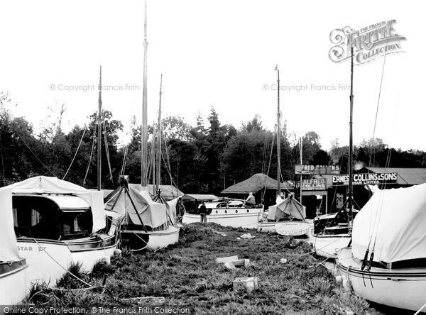 Photo of Wroxham, The Yacht Yard c.1940