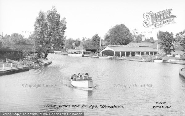 Photo of Wroxham, View From The Bridge c.1950
