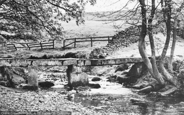 Photo of Wycoller, The Clapper Bridge c.1955