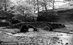 Wycoller, The Pack Horse Bridge c.1955