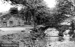 Wycoller, Wycoller Hall And Bridge c.1955