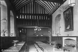 Wye, College, Dining Hall 1906