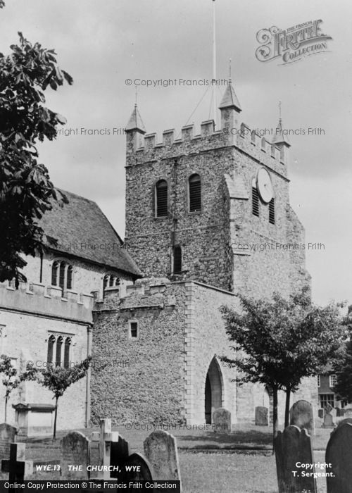 Photo of Wye, St Gregory And St Martin's Church c.1955