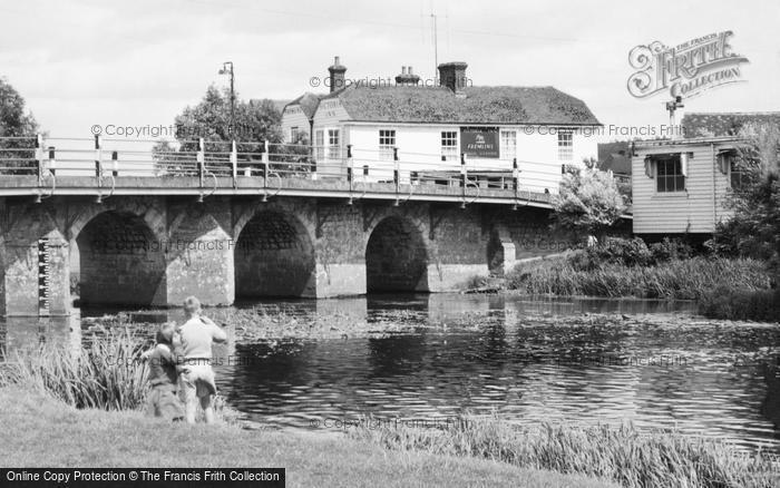 Photo of Wye, The Bridge And Victoria Inn c.1955