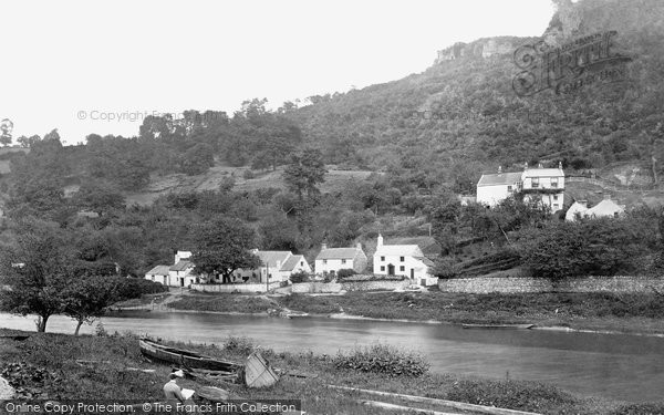 Photo of Wye Valley, New Weir From The Ferry c.1878