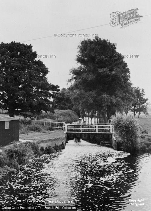 Photo of Wye, View From The Bridge c.1955