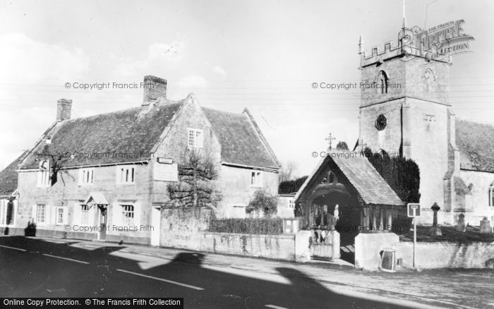 Photo of Wylye, The Bell Inn And Church c.1960