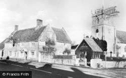 The Bell Inn And Church c.1960, Wylye