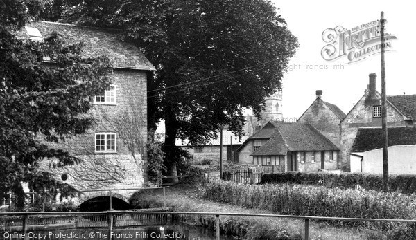 Photo of Wylye, View From The Bridge c.1955