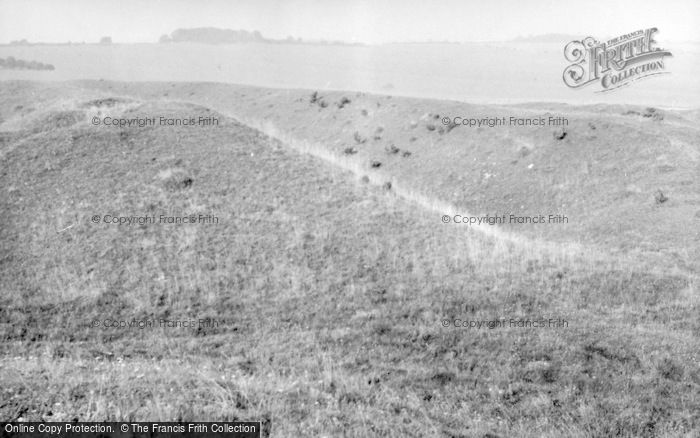 Photo of Wylye, Yarnbury Castle 1956