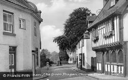 Church Street, The Green Dragon c.1955, Wymondham