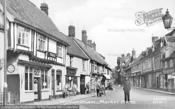 Photo of Wymondham, Market Street c.1955