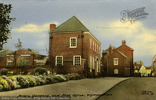 Photo of Wymondham, Priory Gardens And Post Office c.1960