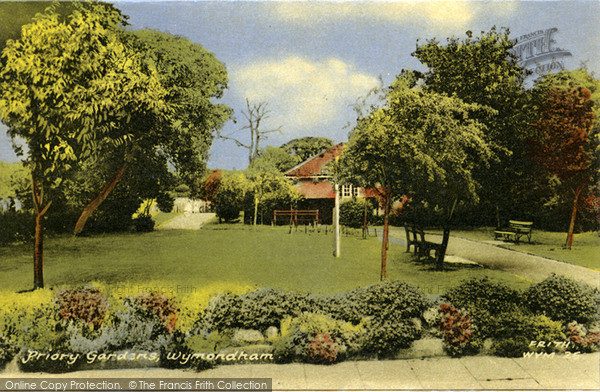 Photo of Wymondham, Priory Gardens c.1960