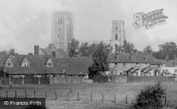 The Abbey And Cottages 1891, Wymondham