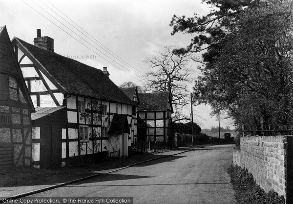Photo of Wyre Piddle, Old Cottages c.1955