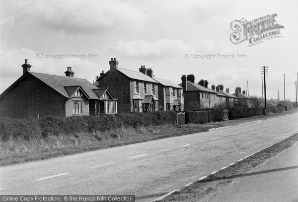 Photo of Wyre Piddle, The Main Road c.1955