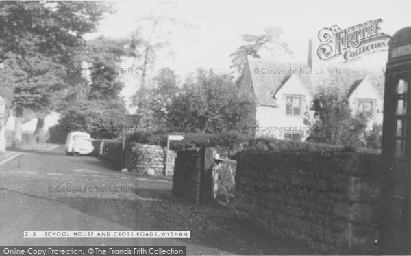 Photo of Wytham, School House And Cross Roads c.1965