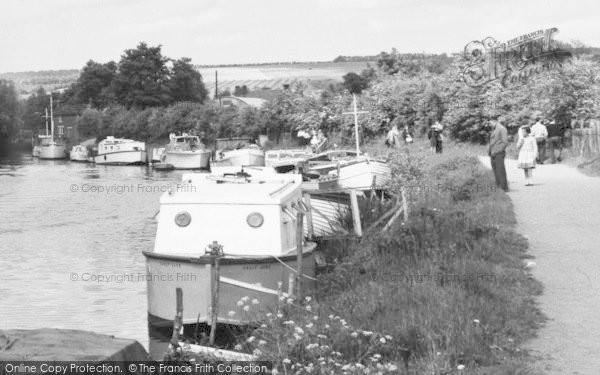 Photo of Yalding, Boats On The River Medway c.1960