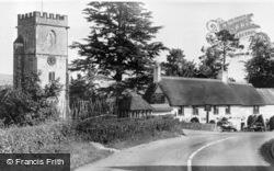 Church Of St John The Baptist And Yarcombe Inn c.1955, Yarcombe