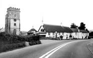 Yarcombe, the Church and Yarcombe Inn c1960