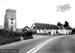 Church Of St John The Baptist And Yarcombe Inn c.1960, Yarcombe
