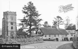 St John The Baptist's Church And Inn c.1955, Yarcombe