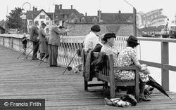 Fishing From The Pier c.1955, Yarmouth