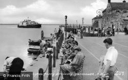 Lymington Ferry Arriving c.1955, Yarmouth