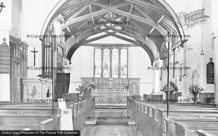 Photo of Yarmouth, St James' Church Interior c.1965